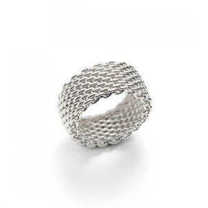 Mesh ring. Sterling silver